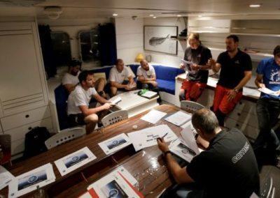 Briefing a bord du Janus 2