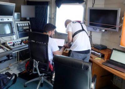 Poste de control a bord du Janus 2