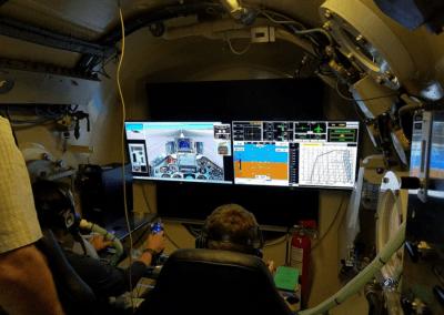 simulateur de vol en chambre hypoxique comex