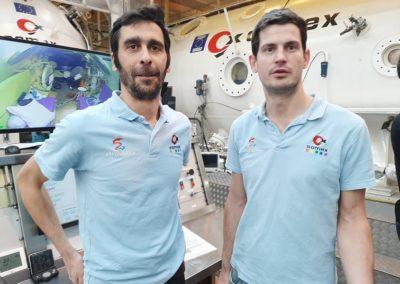 Frédéric Polindre chef d'équipe et Luc levaux chef de projet