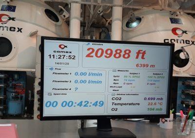 Simulation d'altitude au centre hypobare COMEX